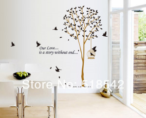 Free Shipping:2Set Large Brown Tree Birds
