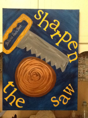 Leader In Me/ 7 Habits Sharpen the Saw Canvas by Charity Goodwin