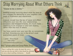 Stop Worrying About What Others Think - Worry Quote