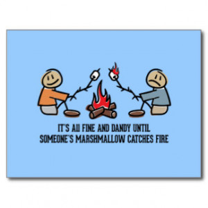 Funny Camping Saying and Cartoon Post Card
