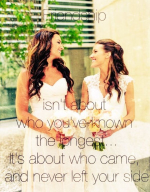 Wedding Quotes For Friends Best friend wedding day quote