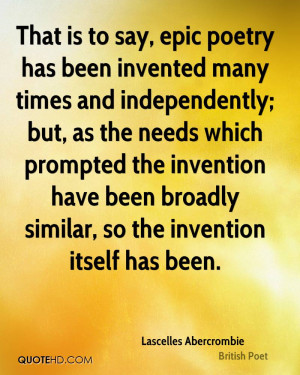 invention have been broadly similar so the invention itself has been