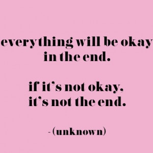 Everything's going to be alright.