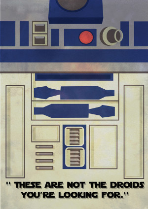 ... , but here is his minimalist take on the Star Wars franchise