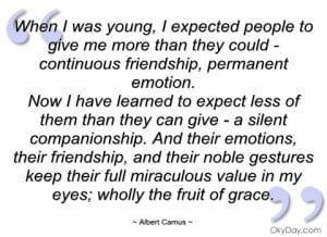 when i was young albert camus