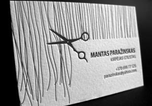 ... of business card designs hair stylist letterpress business card design