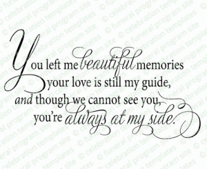 Beautiful Memories Word Art