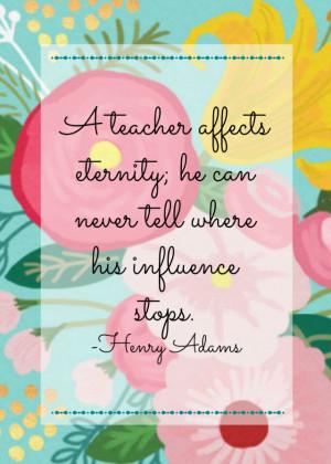 Free printable floral teacher appreciation quotes | 11 Magnolia Lane