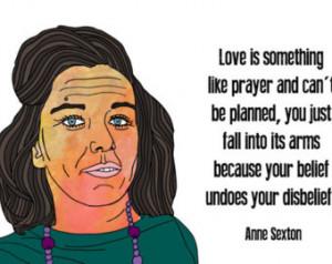Anne Sexton Quotation Print 11x17
