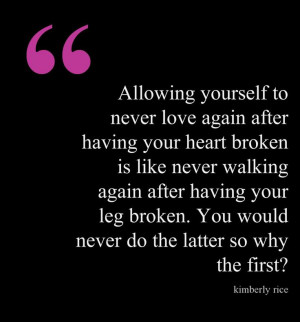 Love breakup starting over quote