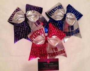 ... Cheer Bow or Hair Bow, Quote Cheer Bow, Cheer Bows with Sayings