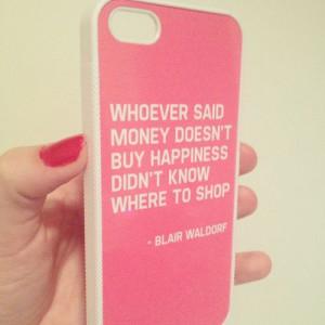 Shopping Quote Blair Waldorf Gossip Girl Pink ... | Word On Instagram