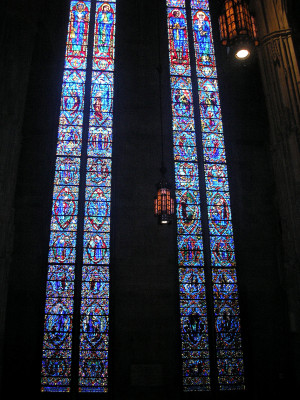 73-foot tall North Transept windows of Heinz Memorial Chapel