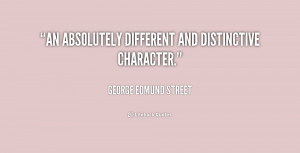 """An absolutely different and distinctive character."""""""