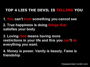 Top 4 lies the devil is telling you