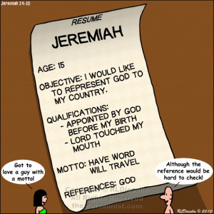 Jeremiah Timeline Picture