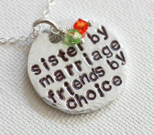 Sister In Law Quotes For Facebook Sister in law necklace,