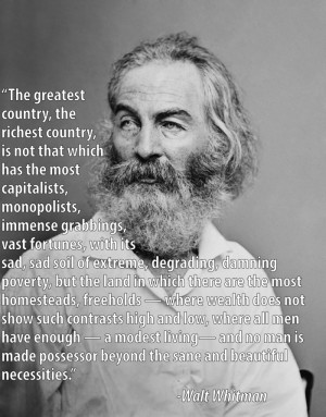 Inequality Quotes Walt Whitman