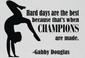 Gymnastics Quotes On Hard Work