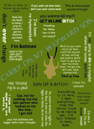 Dean Winchester quotes hahahaha