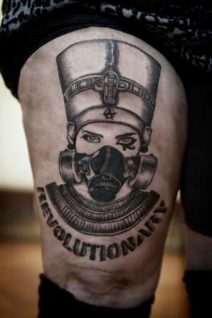Egyptian Gas Mask Tattoo