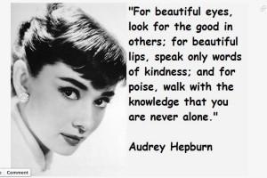 Inspiration Audrey Hepburn poise class