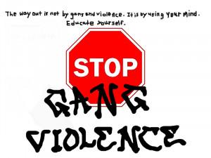 Stop Gang Violence Postcards, stop, violence,