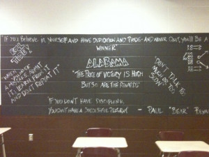 Bear Bryant quote wall