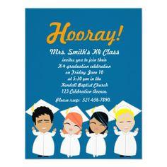 elementary GRADUATION invitation or announcement More