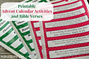 Printable Advent Calendar Bible Verses