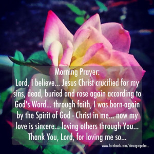 You Lord, for loving me!! #morningprayer #goodmorning #devotion #quote ...