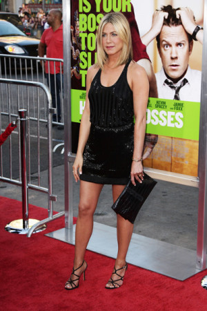 Jennifer Aniston attends the premiere of her new movie, Horrible ...