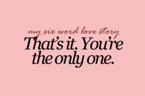 that's it. you're the only one
