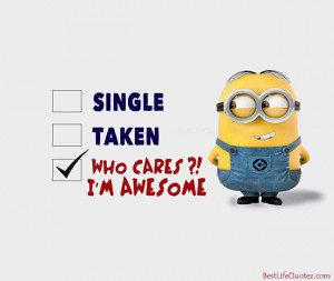 am awesome cute minion quote picture facebook home minions quotes ...