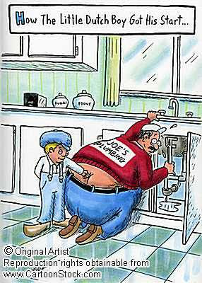 Funny Plumbers Butt Cartoon!