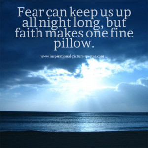 Fear And Faith Inspirational Quote