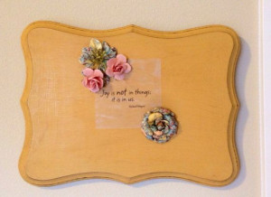 Shabby Chic, Vintage, Country Wall Decor with Quote