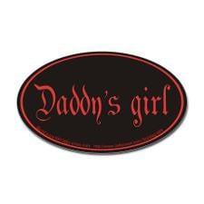 Daddy's girl Oval Sticker for