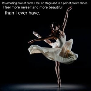 Ballet pointe dancer quote