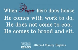 Peace: a poem by Gerard Manley #Hopkins #quote | gimmesomereads.com