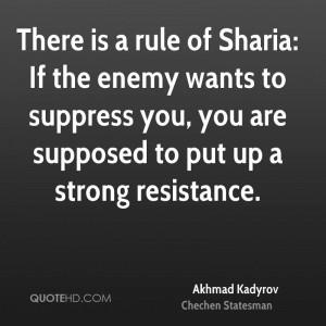 Akhmad Kadyrov Quotes