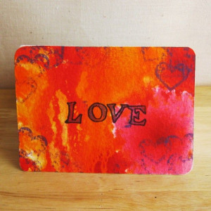 ACEO Art as Therapy Card Love Affirmation Quote Original Mixed Media ...
