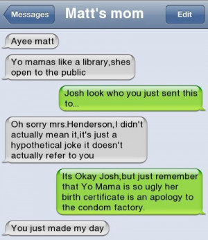 Funny Text Message – Yo Momma