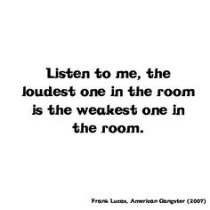 ... the room frank lucas american gangster 2007 american gangster quotes