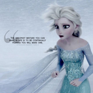 ... mental illness especially anxiety disorder can really relate to Elsa