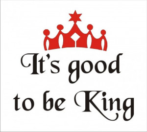 Stencil life quote king royal crown home castle man 9 x 8.5 inches