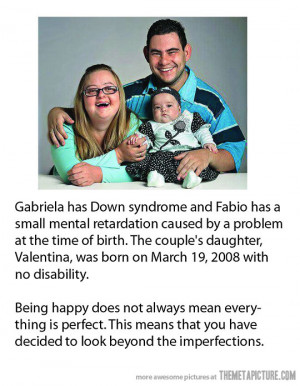 Down Syndrome parents baby family