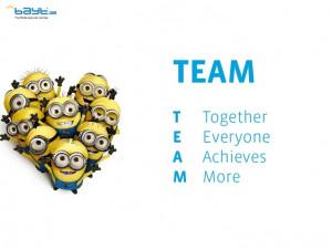 Teamwork ROCKS! www.facebook.com/Baytcom