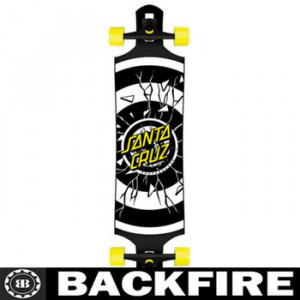 Backfire LONGBOARD Rob Roskopp Dot DROP THROUGH Skateboard CRUZER 10 ...
