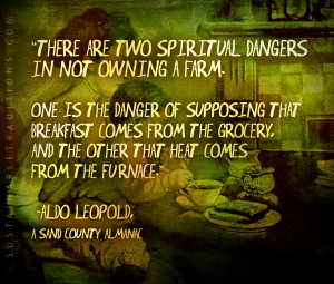Two Spiritual Dangers In Not Owning A Farm – quote by Aldo Leopold